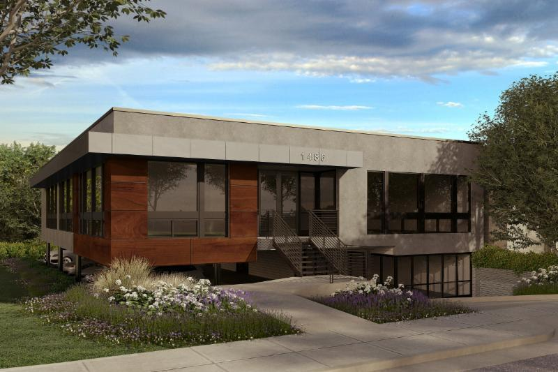 tsa architects rending of exterior new office
