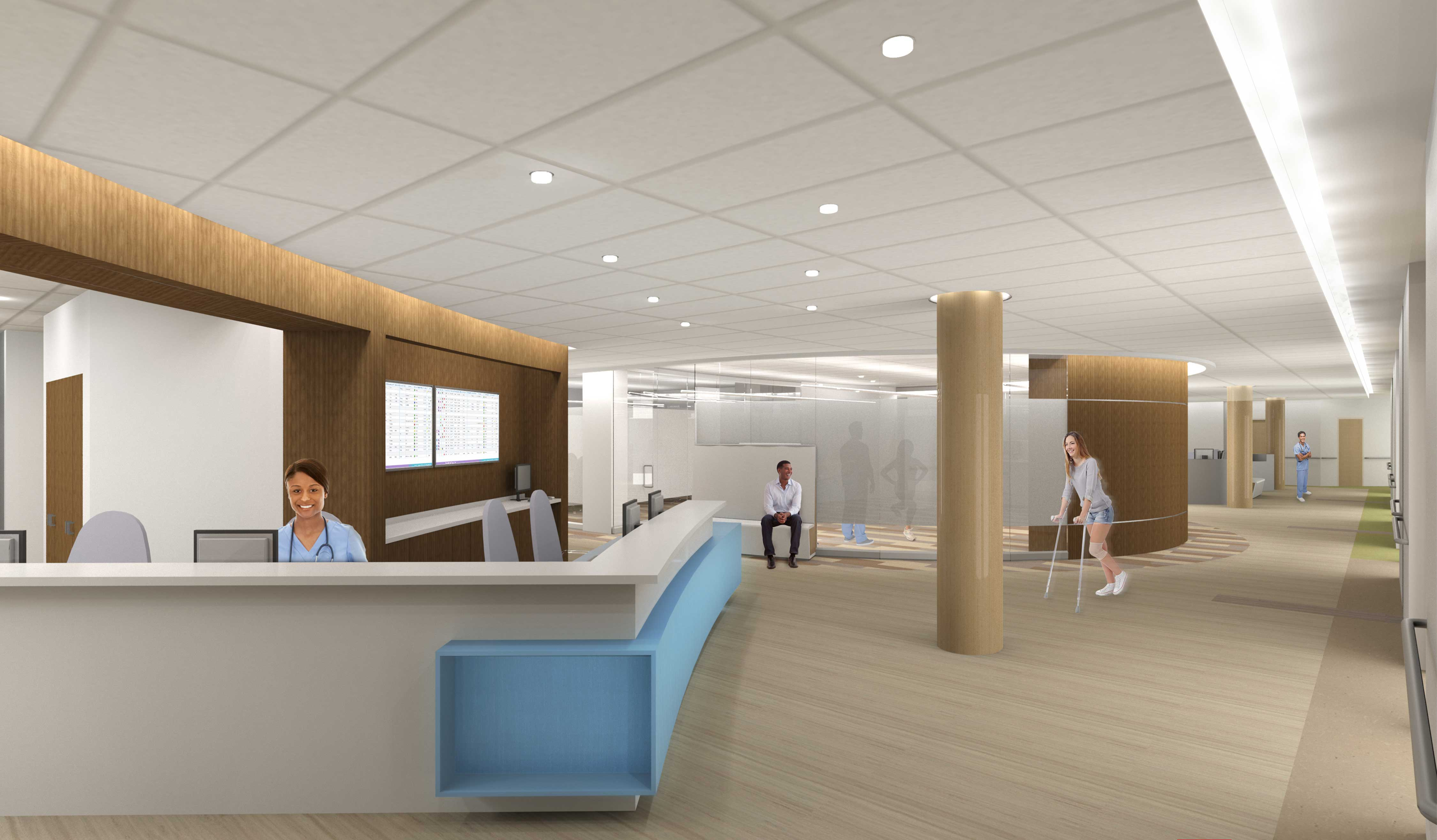 OTSS Reception Desk Utah Healthcare Architect Digital Rendering