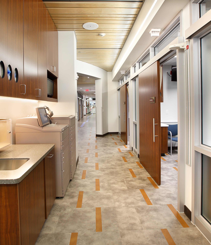 Hallway and Patient Room Utah Healthcare Architecture