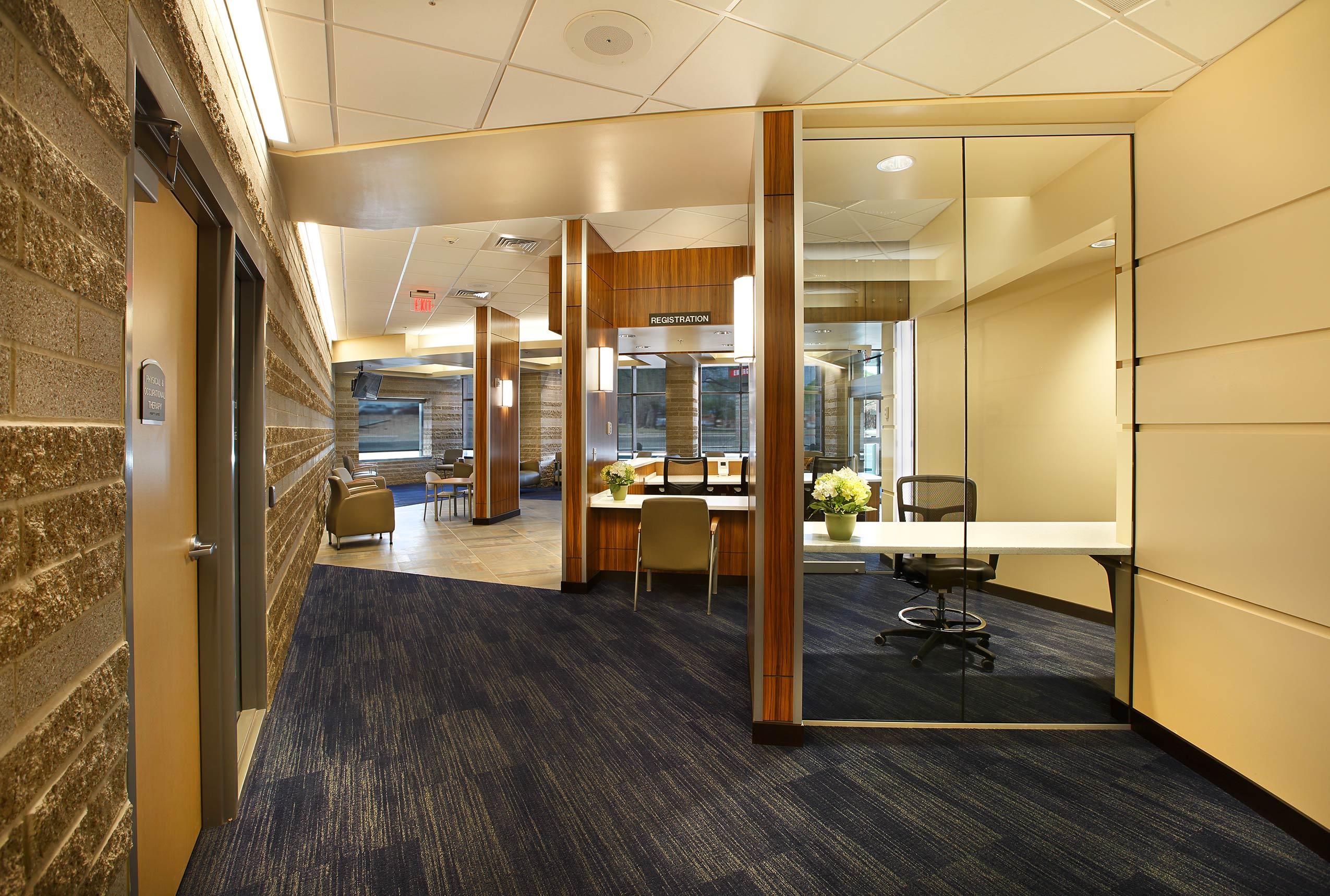 Uintah Basin Medical Center Hallway Heathcare Architecture