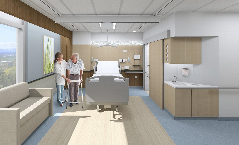 University of Utah patient room of the future rendering