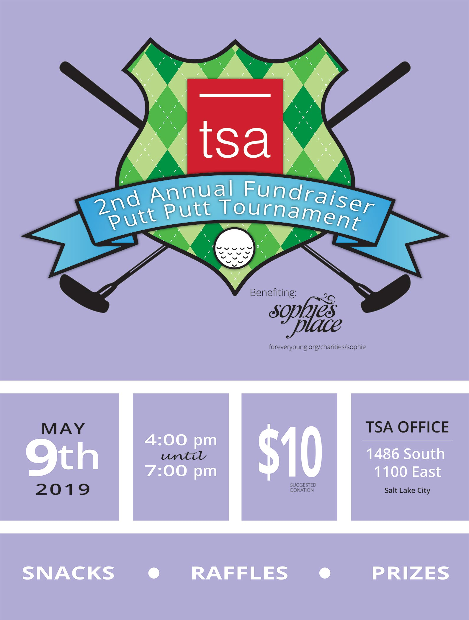 TSA Architects Putt Putt Fundraiser invitation