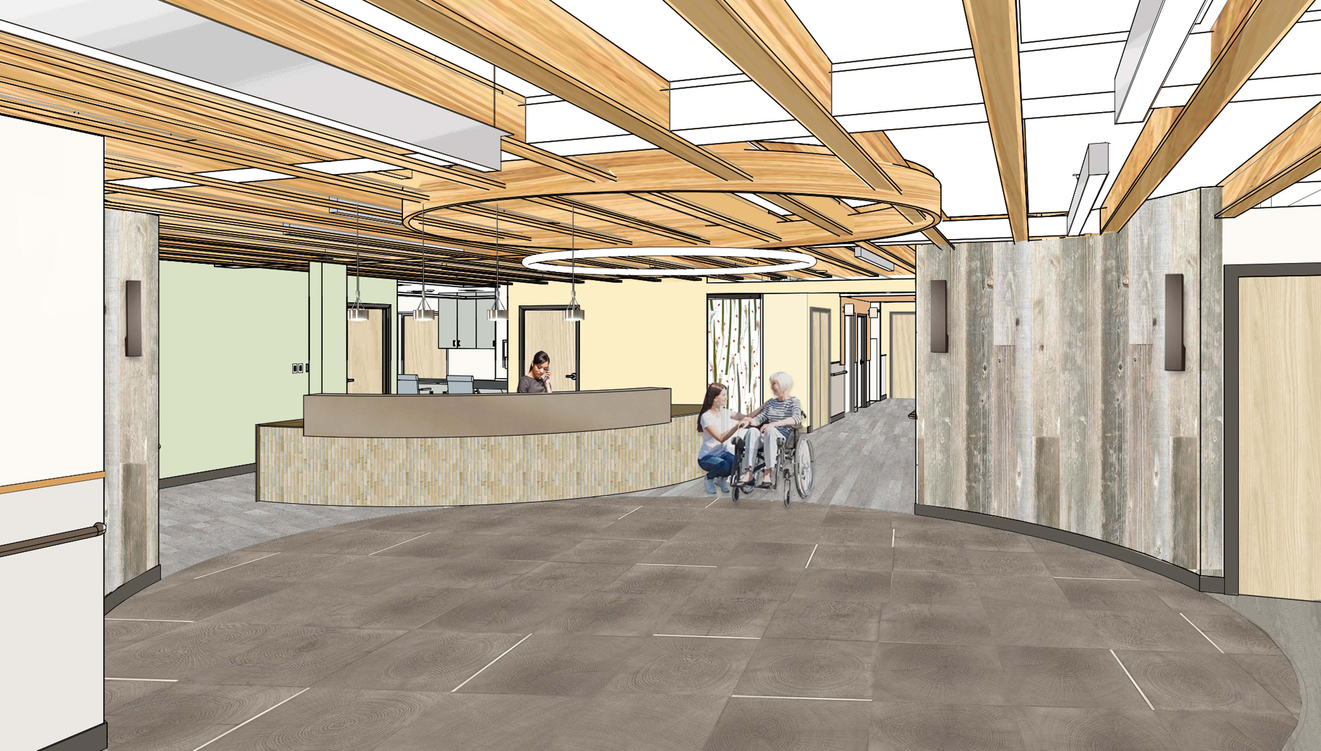 Wyoming Senior Living Skilled Nursing Architecture Digital Rendering