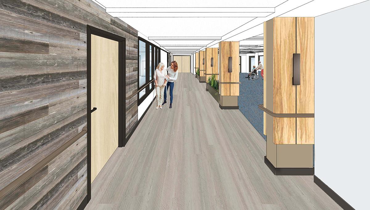 Wyoming Senior Living Architect Digital Rendering