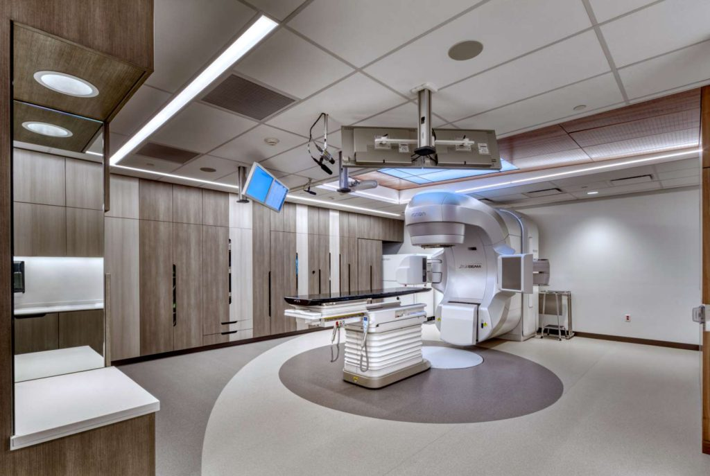 Linear Accelerator at McKay-Dee Hospital. Designed by TSA Architects, cancer center specialists.