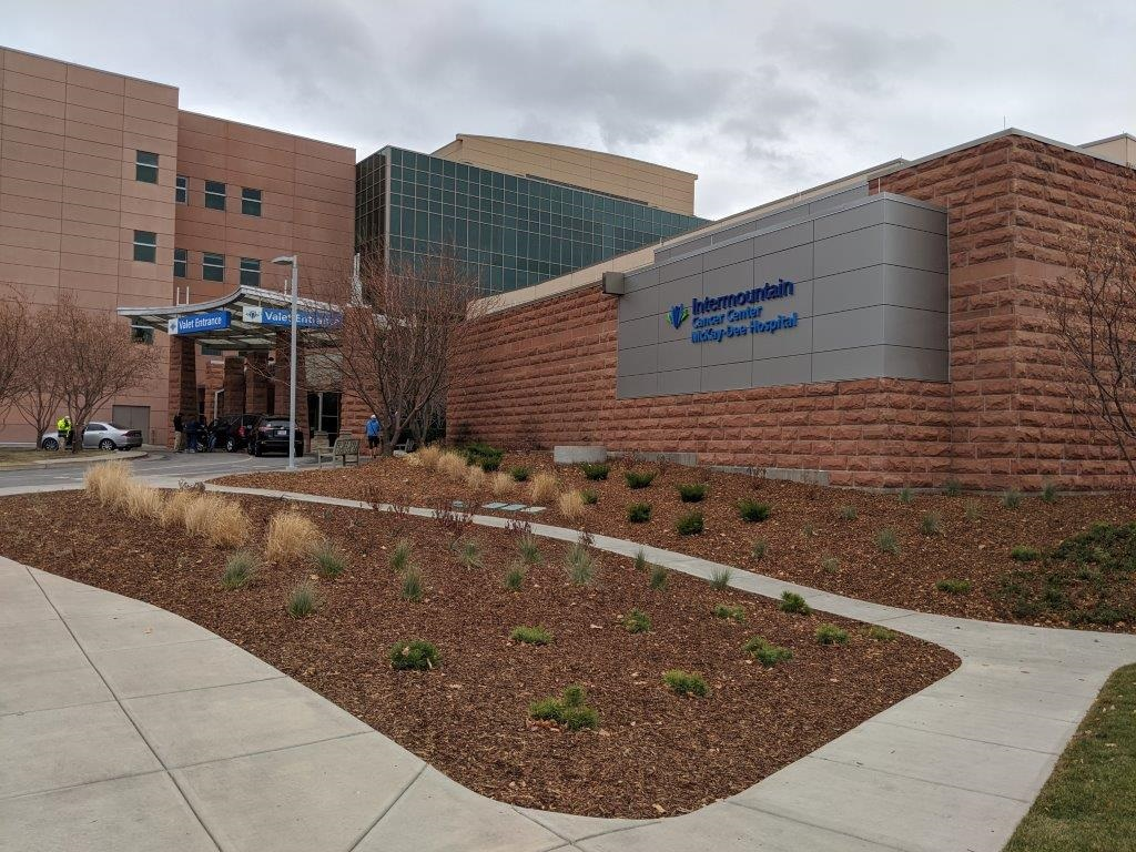 The exterior of the renovated McKay-Dee Cancer Center designed by healthcare specialists TSA Architects.